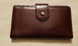 "HOBO BAGS ""ELM"" LEATHER WALLET DEEP PLUM NEW wo TAGS $35.00"