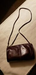 "HOBO BAGS ""TOPAZ"" LEATHER CROSSBODY BAG DEEP PLUM NEW $65.00"