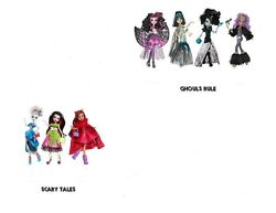 7 Monster High Ghouls Rule And Scary Tale Dolls Clawdeen Cleo Draculaura Frankie