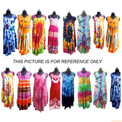 Assorted 100pc Indian Casual Sundress Hippie Boho Tunic One Size Beach Dresses