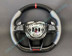 Mercedes W205 W463 W213 Amg Style Steering Wheel Piano Black Carbon Leather