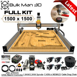 1515 Lead Cnc Wood Router Machine Full Kit 4 Axis Precise T8 Leadscrew Drive Cnc