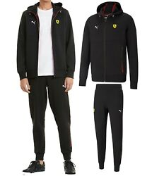 New Scuderia Ferrari Race Menand039s Hooded Sweat Jacket And Pants Tracksuits 2pc