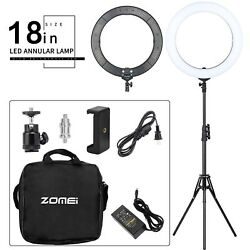 Zomei 18 Led Ring Light Dimmable 5500k Lighting Stand For Iphone Camera Live