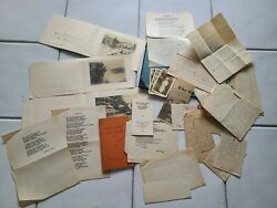 Rare Letter And Poem Collection From War Hero Robert R. Rice Charles Claudia Gitz