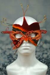 Red Butterfly Ribbons Mask Halloween Mardi Gras Masquerade Gencon Cosplay