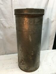 Vintage Steel Cream Dairy Canister Milk Can Hershey Co Hagerstown Md