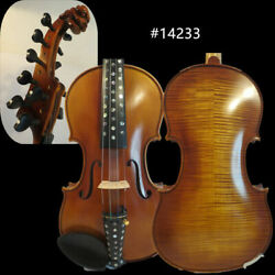 Hand Made Flames 410 Strings Carving Scroll Violin 4/4 Rich Sweet Sound 14233