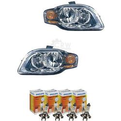 Headlight Set For Audi A4 B7 Type 8e Year 04-09.06 Limo Avant Bosch With Blinker