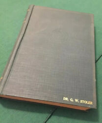 Manual Of Therapy Parke Davis And Co. 1923 2nd Edition Dr. G W Stoler Cannabis