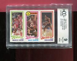 Magic Johnson Los Angeles Lakers 1980-81 Topps Basketball Rookie 66 Bccg 9