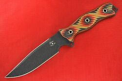 Busse Custom Nuclear Sjtac Double-edged Variant .18 Black Blade Red Tequila G10