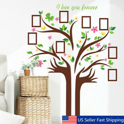 US Family Tree Butterfly Wall Sticker Picture Photo Frame Removable Room