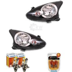 Headlight Set Right And Left For Toyota Aygo 05- Valeo Incl. Lamps Bulbs