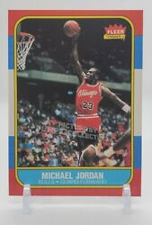 1986 Fleer Michael Jordan Rookie Card #57 Chicago Bulls $6.00