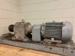 Sew-eurodrive R80 Skid Mounted Inline Gear Reducer With 7.5 Hp 1760 Rpm Motor