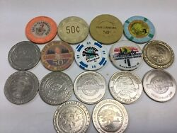 Vintage Lot Of 16 Wisconsin Casino Chips - All One Dollar Chips - Sc