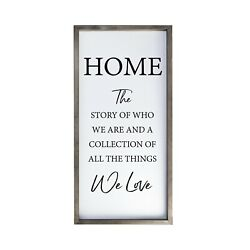 Wooden Framed Shadow Box Inspirational Family Quote Wall Dandeacutecor 18x36