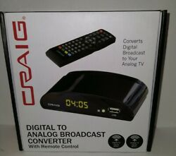 New Craig Digital To Analog Broadcast Converter with Remote Control CVD509
