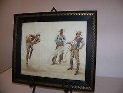 Making A Tenderfoot Dance Original Painting Of Montana Cowboy Life And Estate Find