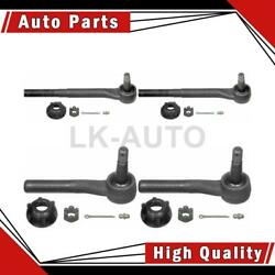 Moog Chassis Products Inner Outer 4 Of Steering Tie Rod Ends For Ram 1500