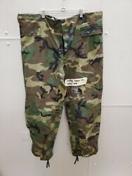 Orc Industries Trousers Improved Rain Suit M81 Woodland Camouflaged Large L6c
