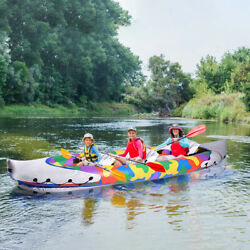 Inflatable Pvc 3 Person Inflatable Fishing Kayak Canoe Raft Paddle Boat New