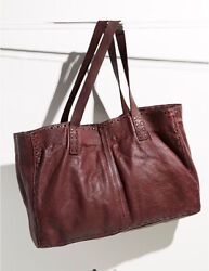 Nwt Free People Camille Leather Tote Bag