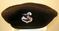 Us Air Force Security Police Strategic Air Command Sac Crest Badge Beret 7 1/8