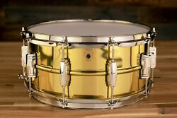Ludwig 14 X 6.5 Lb403 Super Brass Snare Drum Nickel Hardware Seamless Shell
