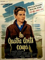 Franandccedilois Truffaut The 400 Blows Les 400 Coups 1959 French Poster 47x63