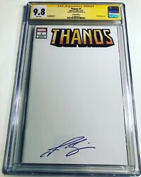 Cgc 9.8 Ss Thanos 1 Sketch Variant Signed By Josh Brolin Avengers