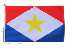 Saba Netherlands Flag 3'x2' 90cm X 60cm With Rope And Toggle - One