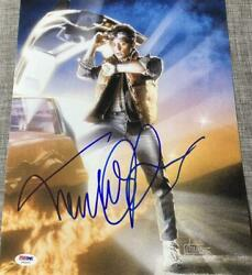 Michael J. Fox Signed Autographed 11x14 Photo Back To The Future Poster Coa Psa