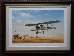 Keith Woodcock Aircraft Print And039armstrong Whitworth Atlas Of 208 Squadronand039 Framed