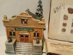 Christmas Colonial Village By Lefton Police Station 6335