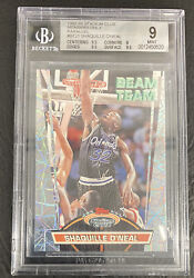 1992 Stadium Club Beam Team Members Only Shaquille Oand039neal Rc Bgs 9 With 2 9.5s