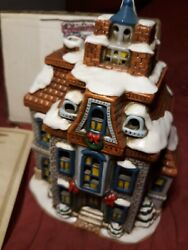 Lefton Colonial Christmas Village greystone House 06339 Dated 1987