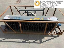 Mower King Manual Angle Broom Sweeper Skid Steer Attachment 72 New