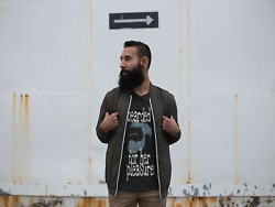 BEARDED FOR HER PLEASURE Cotton Classic Fit Graphic Design T Shirt