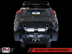 Awe Tuning Touring Edition Exhaust 16-18 Ford Focus Rs | Non-res | Silver Tips