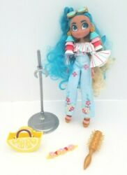 Hairdorables Hairmazing Doll Noah 10 Blue Hair With Purse Brush Stand