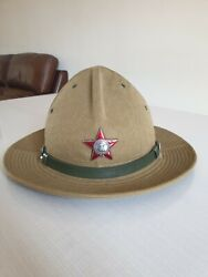 Soviet Russian Army Hat Panama Size 58 Afghanka Order Of Red Star