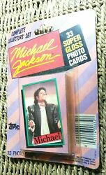 Sealed New 1984 Topps Michael Jackson Collector Set Of 33 Cards