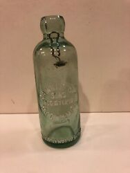 Vintage Ga Williston And Son Bay City, Mich Embossed Blob Top Bottle/stopperbw224
