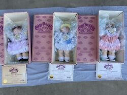 Cabbage Patch Kids Porcelain Dolls Lot Of 3 New 1984 Free Shipping