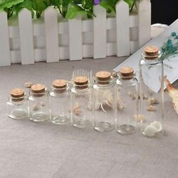 50pcs Glass Bottles Cork Empty Jars Containers Vial Crafts Accessories Storage
