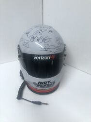 2018 Indy 500 Helmet Replica Signed By All Drivers Danica Patrick Will Powers