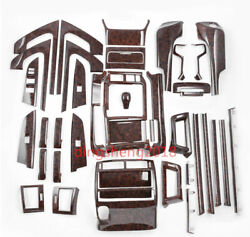 For Toyota Land Cruiser Lc200 16-19 Wood Grain Car Interior Kit Cover Trim 41pcs