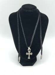 Chrome Hearts Cross Leather Necklace $650.00
